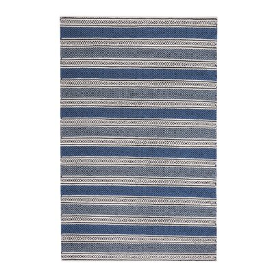 Patnos Hand-Tufted Wool Blue/Gray Area Rug Rug Size: Rectangle 47 x 67