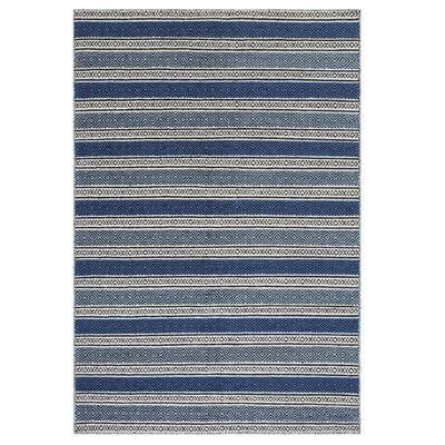 Patnos Hand-Tufted Wool Blue/Gray Area Rug Rug Size: Rectangle 53 x 77