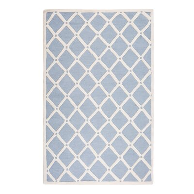 Dali Hand-Tufted Light Blue/Beige Area Rug Rug Size: Rectangle 47 x 66