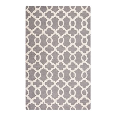Zile Hand-Tufted Gray Area Rug Rug Size: Rectangle 4'7