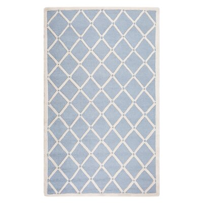 Dali Hand-Tufted Light Blue/Beige Area Rug Rug Size: Rectangle 52 x 76