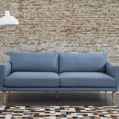 Pasala 3 Seater Standard Sofa Upholstery: Blue