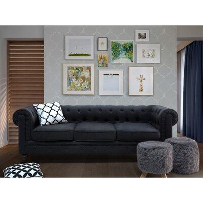 Brondesbury Chesterfield Sofa Upholstery : Graphite