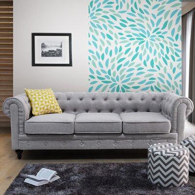 Brondesbury Chesterfield Sofa Upholstery : Light Gray