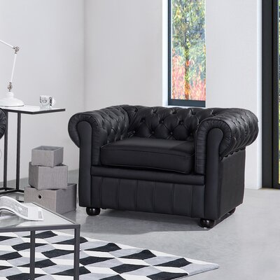 Bromford Chesterfield Chair Upholstery : Black