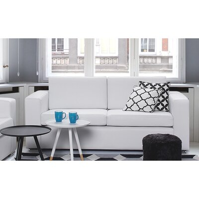 Jordon Leather Sofa Upholstery: White