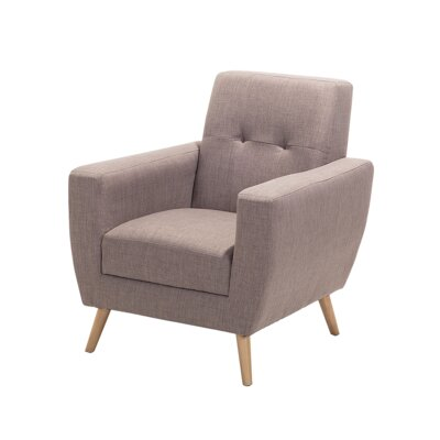Madisyn Armchair Upholstery: Gray/Brown