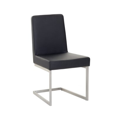 Patrik Upholstered Dining Chair Upholstery Color: Black