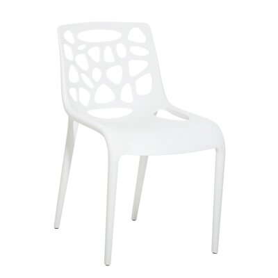 Sandiford Dinning Chair Color: White