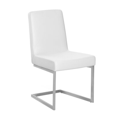Patrik Upholstered Dining Chair Upholstery Color: White
