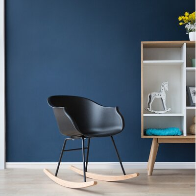 Alkmene Lounge Chair Upholstery: Black