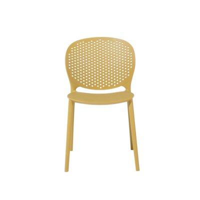 Cael Dining Chair Color: Yellow