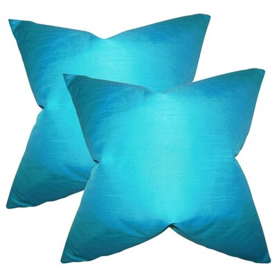 Prentiss Solid Throw Pillow Color: Turquoise