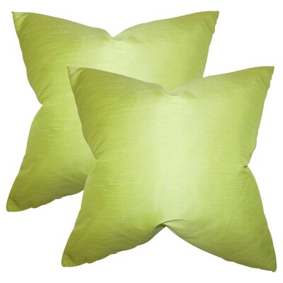 Prentiss Solid Throw Pillow Color: Wasabi