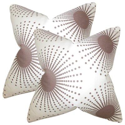 Kora Geometric Cotton Throw Pillow