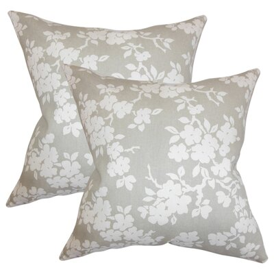 Barnhart Floral Cotton Throw Pillow