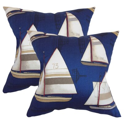 Jeffries Nautical Cotton Throw Pillow