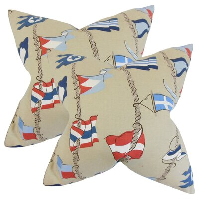 Epen Flags Cotton Throw Pillow