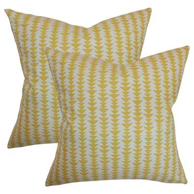 Lorelai Geometric Cotton Throw Pillow Color: Banana