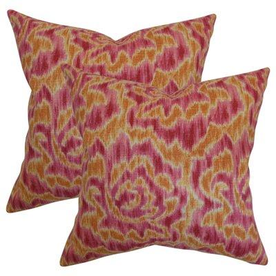 Wapan Linen Throw Pillow Color: Mango