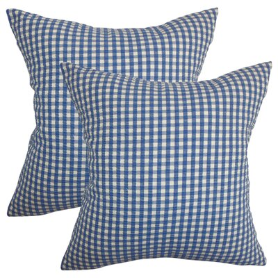 Ponte Plaid Cotton Throw Pillow