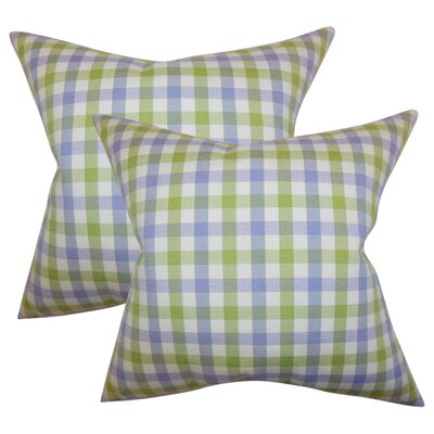 Henley Plaid Cotton Throw Pillow