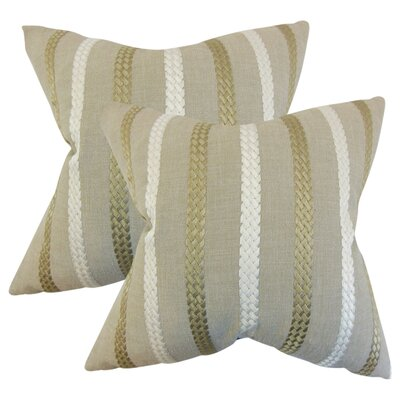 Berat Stripe Throw Pillow Color: Burlap