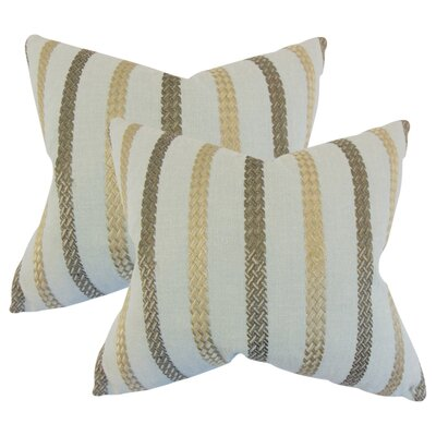 Berat Stripe Throw Pillow Color: Sea Glass