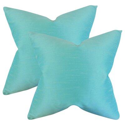 Popinac Solid Throw Pillow Color: Aquamarine