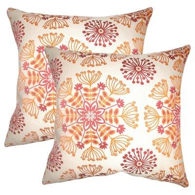 Benesh Floral Cotton Throw Pillow