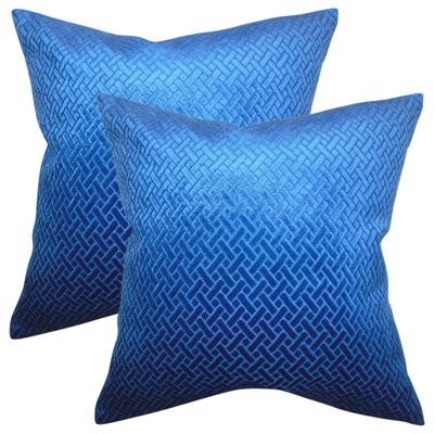 Stradford Solid Throw Pillow Color: Blue Velvet