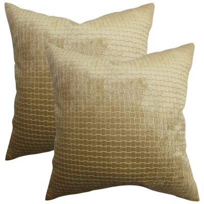 Karen Solid Throw Pillow Color: Brown