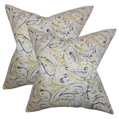 Gian Paisley Cotton Throw Pillow
