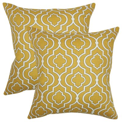 Giorgio Geometric Cotton Throw Pillow