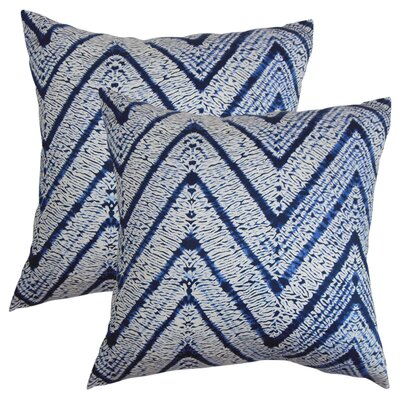 Tarek Zigzag Cotton Throw Pillow