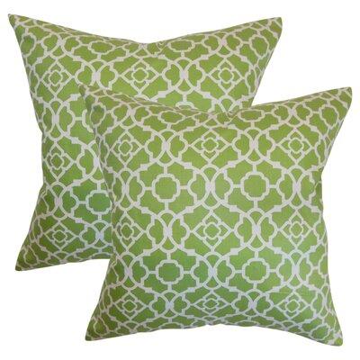 Strozier Geometric Cotton Throw Pillow