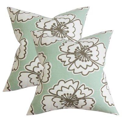 Arrant Floral Cotton Throw Pillow Color: Blue