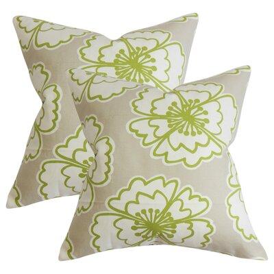 Arrant Floral Cotton Throw Pillow Color: Gray