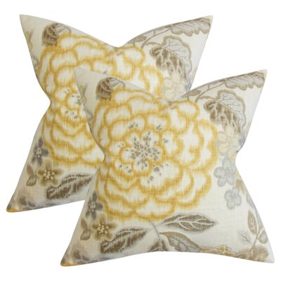 Runa Floral Cotton Throw Pillow