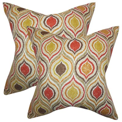 Alissa Geometric Cotton Throw Pillow