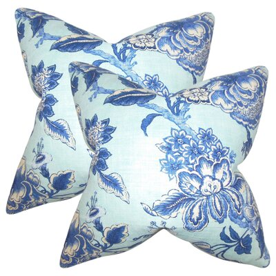 Manoel Modern Floral Linen Throw Pillow