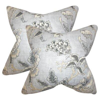 Manoel Floral Linen Throw Pillow