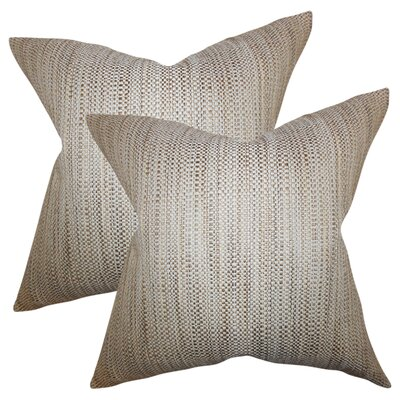Jasmine Woven Throw Pillow Color: Tan