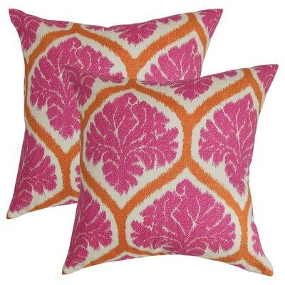 Zaya Floral Cotton Throw Pillow