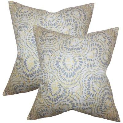 Winburn Floral Cotton Throw Pillow Color: Jonquil