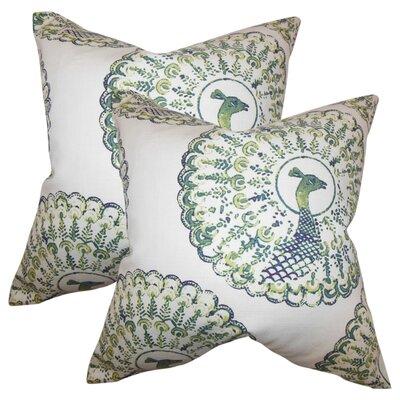 Aahil Animal Print Cotton Throw Pillow Color: Cactus