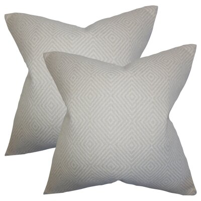 Barium Geometric Cotton Throw Pillow