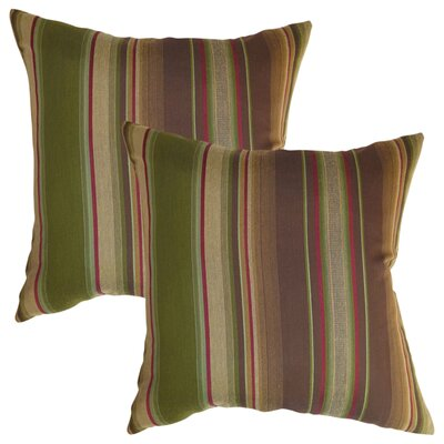 Dickens Stripes Silk Throw Pillow