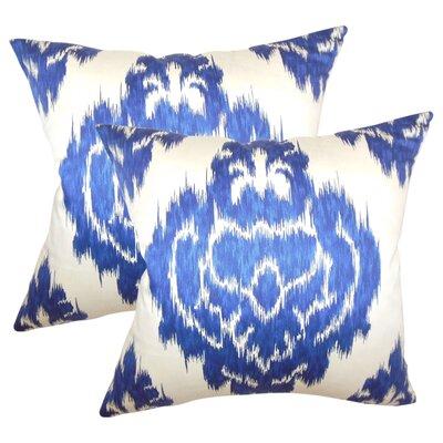 Aitana Ikat Cotton Throw Pillow