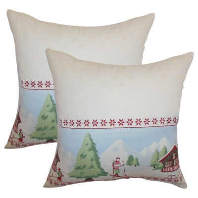 Holiday Cotton Throw Pillow